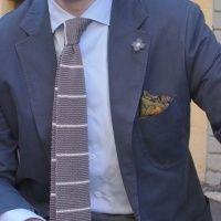 Виды галстуков: ткань