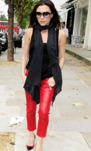 Victoria Beckham in leather pants
