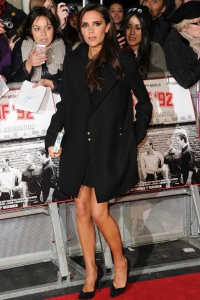 Victoria supports David at class of 92 premiere