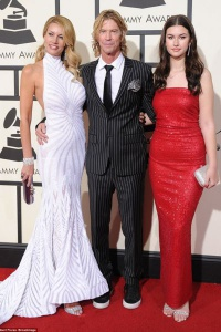 Duff McKagan with Susan Holmes and daughter