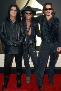 Alice Cooper, Joe Perry and Johnny Depp