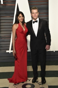 Luciana Barroso and Matt Damon