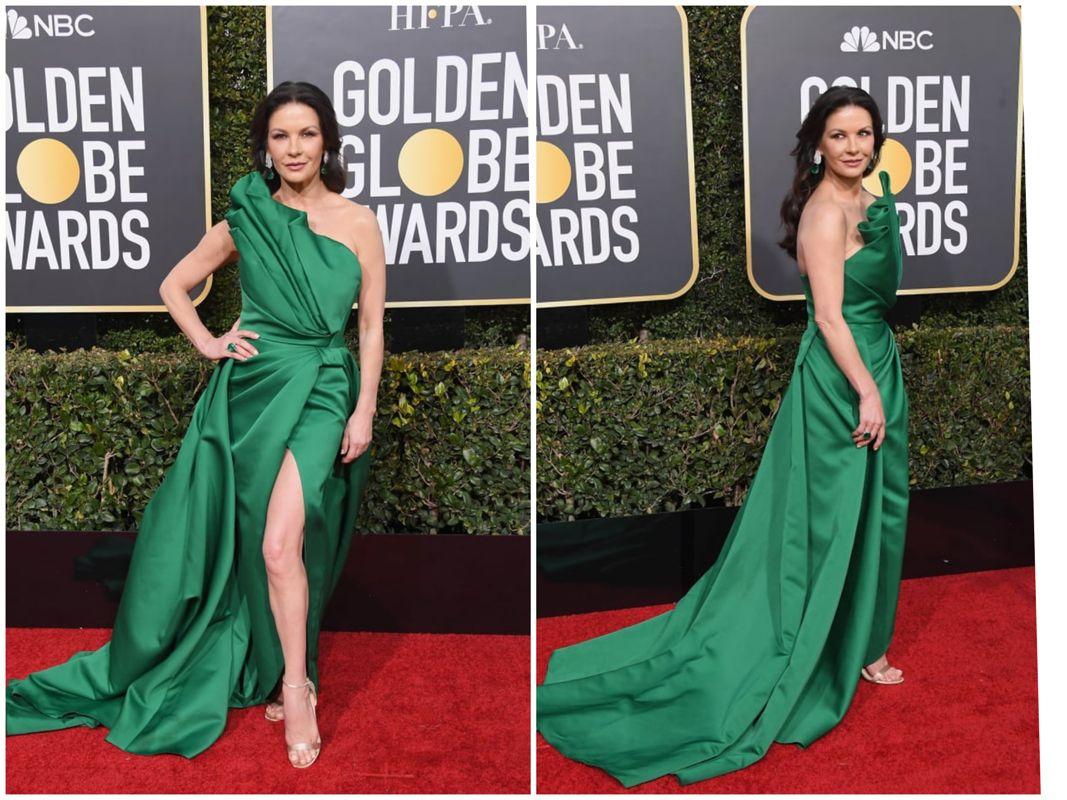9889f61cef8a938 Кэтрин Зета-Джонс в роскошном зеленом платье от Elie Saab. Классика красной  ковровой дорожки.
