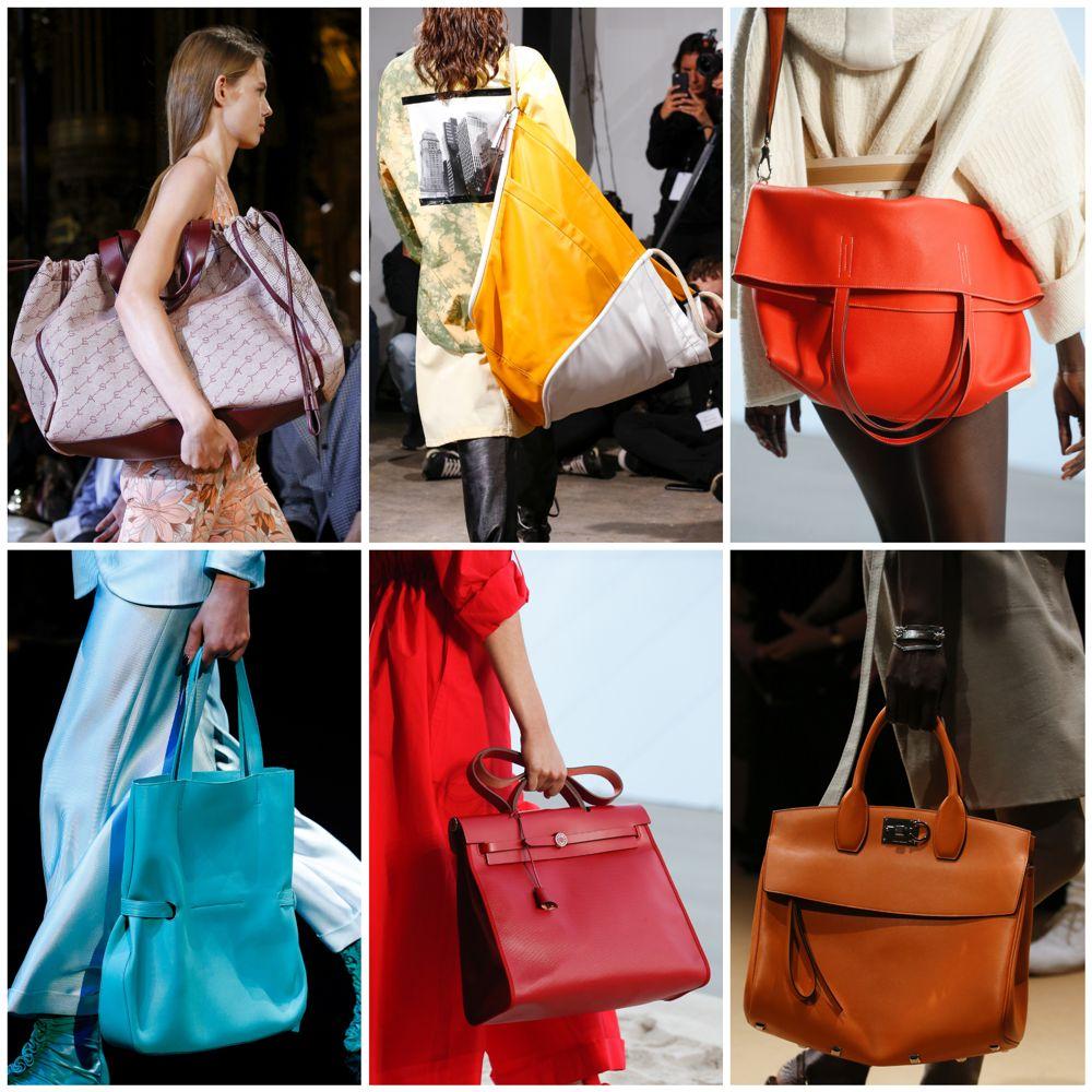 d65e188f9189 А вот сумка ультрабольшого размера – очень даже. На подиумах были  представлены в основном шопперы, но увеличились в размерах и другие виды  сумок – портфели, ...