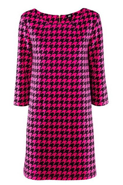 http://citylook.by/wp-content/uploads/2013/08/HM-fuchsia-houndstooth-shift-dress.jpg